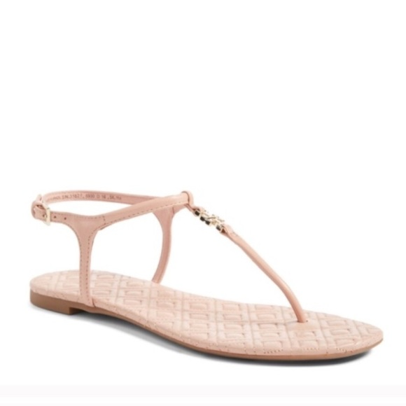 e839a0a06 NWT Tory Burch Marion Quilted Sandal Light Oak 11